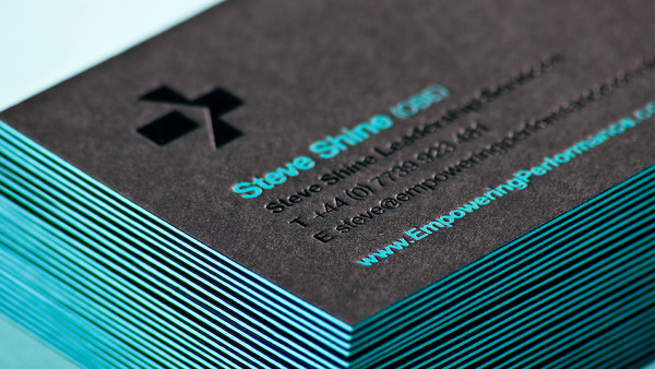 steve shine1 33 Classy Thick Edge Business Cards