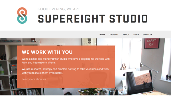 supereight studio1 35 Nice Examples of Flat Web Design