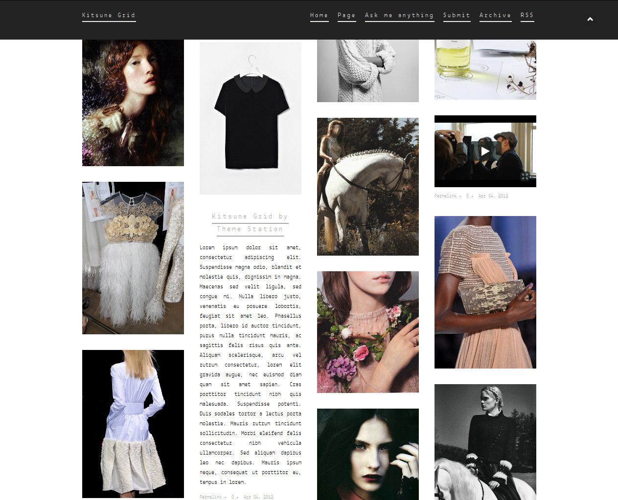 t kitsune grid1 45 Free Grid Based Tumblr Themes