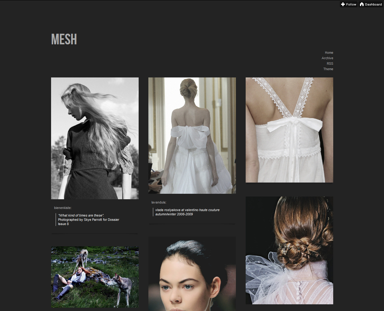 t mesh1 45 Free Grid Based Tumblr Themes