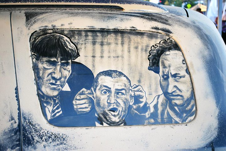 the three stooges 20 Dirty Car Artworks by Scott Wade