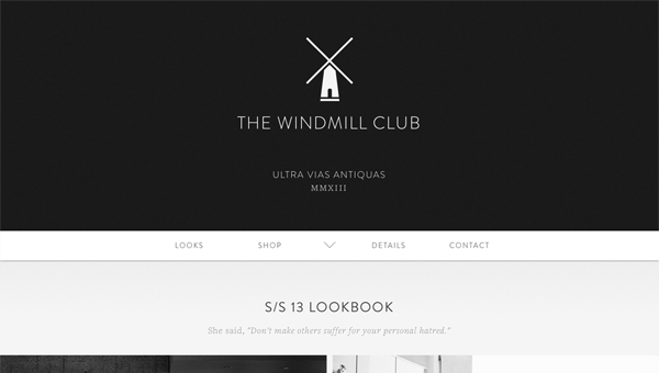 the windmill club11 35 Nice Examples of Flat Web Design