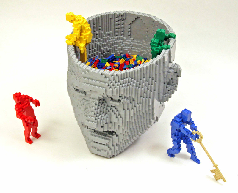 think 1 The Art of the Brick: Outstanding LEGO Artworks by Nathan Sawaya