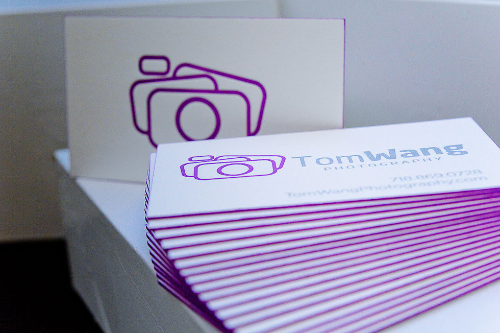 tom wang1 33 Classy Thick Edge Business Cards