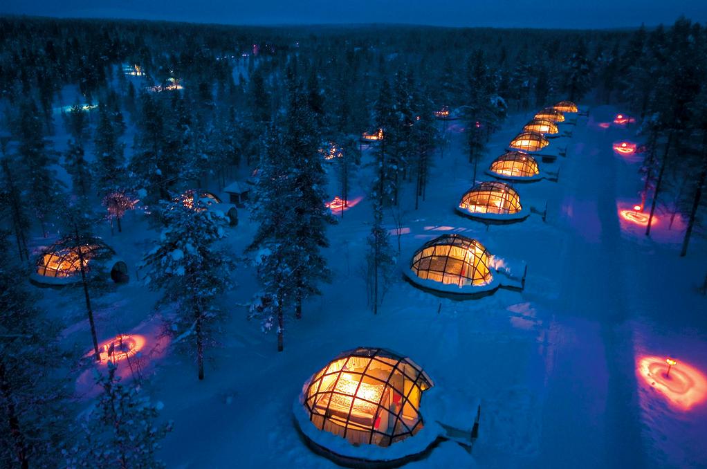 Hotel Kakslauttanen's Igloo Village near Saariselkä, Finland