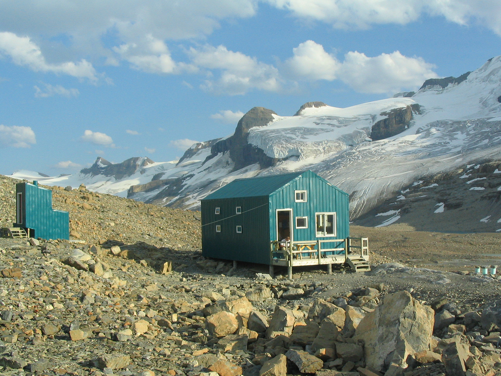 R.J. Ritchie Hut, located in Canada's Banff National Park