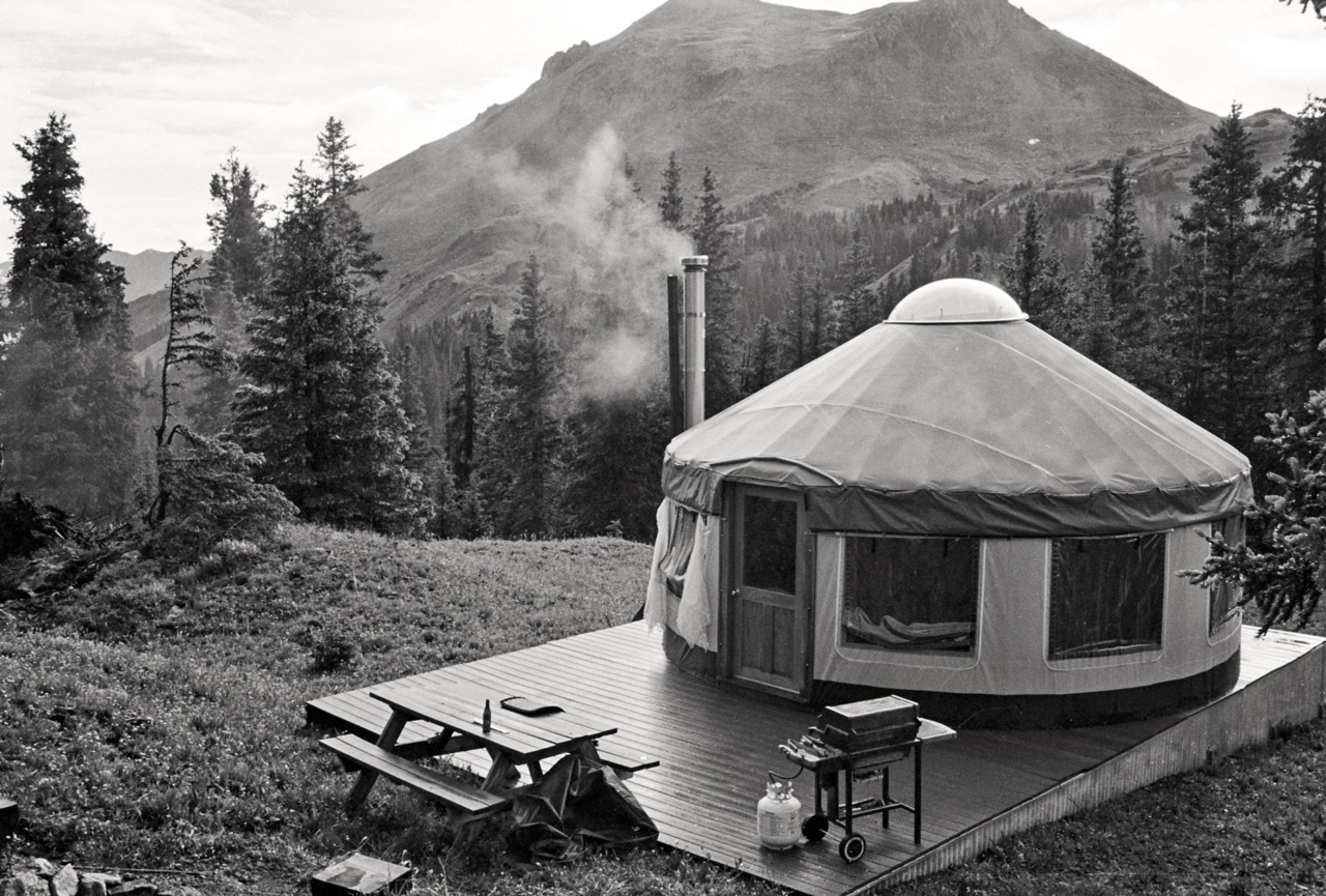 Yurt in San Juan Mountains between Ouray and Silverton, CO.