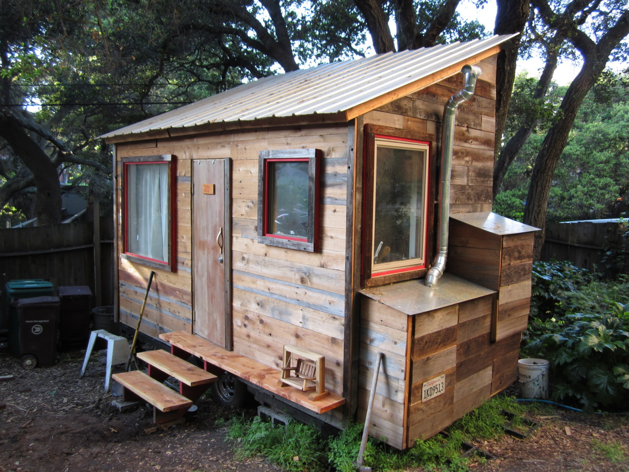 Tiny house under construction in Oakland, CA.