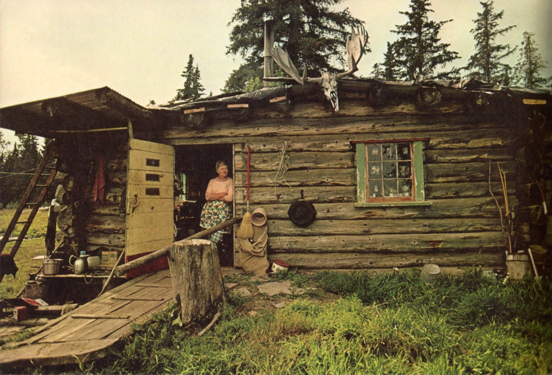 Log cabin in rural Nebraska, 1974.