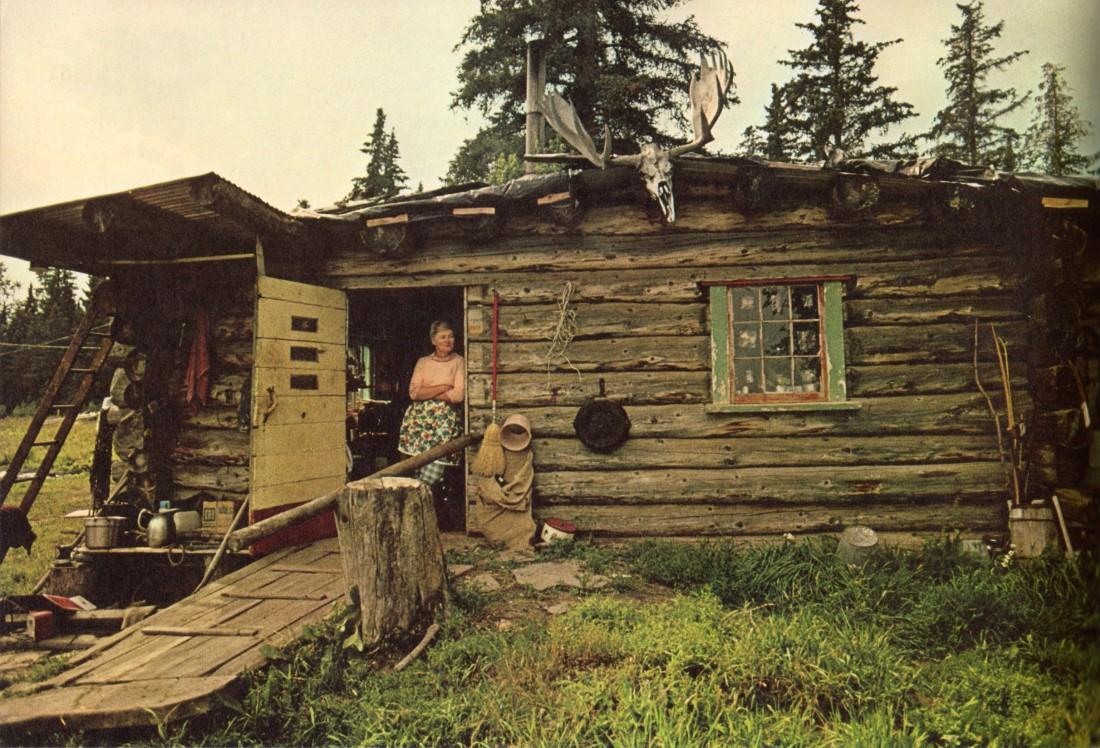 Log cabin in rural Nebraska, 1974.