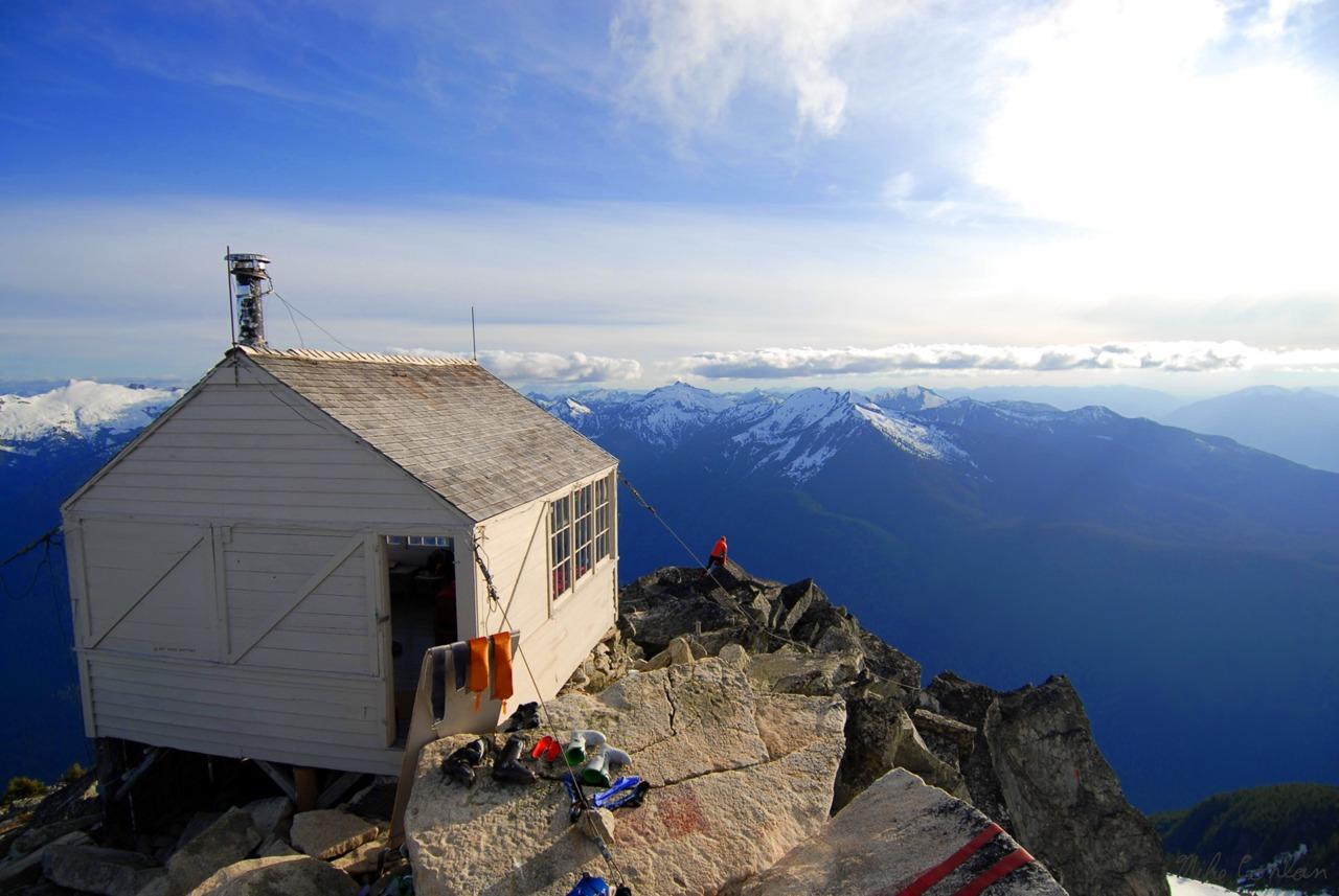 Fire lookout in the Cascade Mountains of Washington state. Submitted and photographed by Mike Conlan.