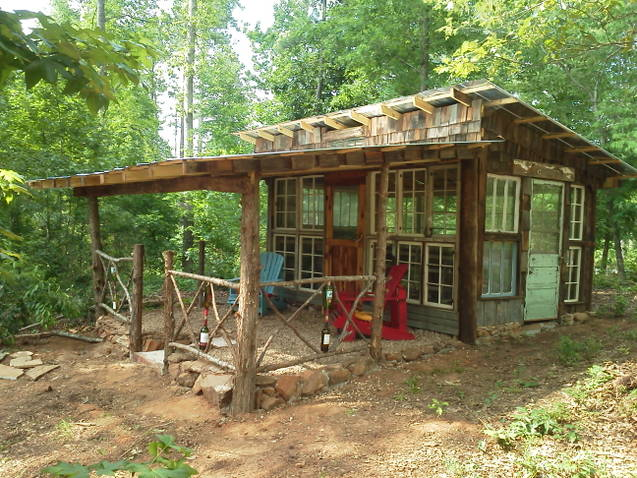 Backyard garden shed in Thomaston, GA.