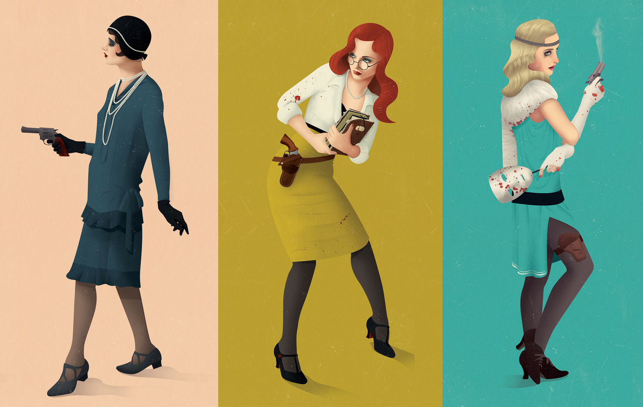 tumblr m63bcsnuct1rv4c7ho1 12801 Vintage Mid Century Illustrations by Jack Hughes