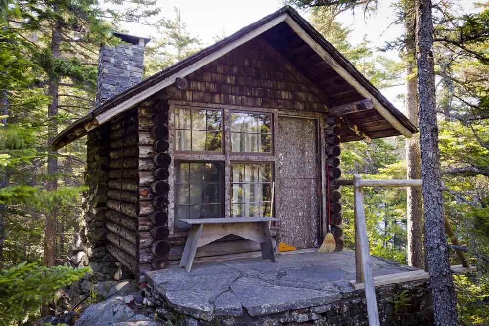 Caretaker's cabin on Borestone Mountain, Maine.