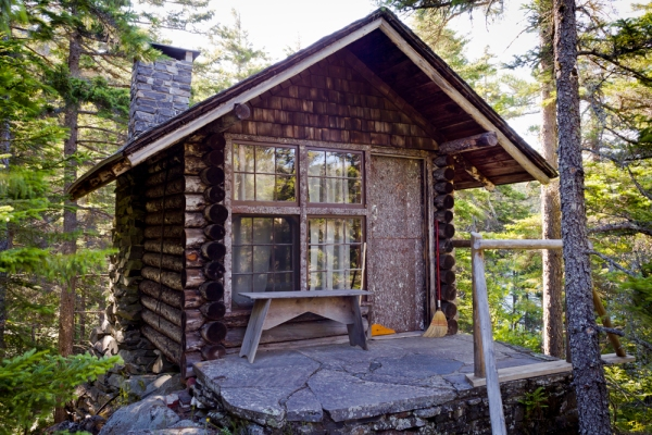 Caretaker's cabin on Borestone Mountain, Maine.