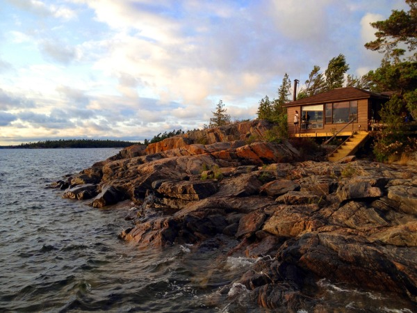 Island Cabin on Georgian Bay, Ontario, Canada.