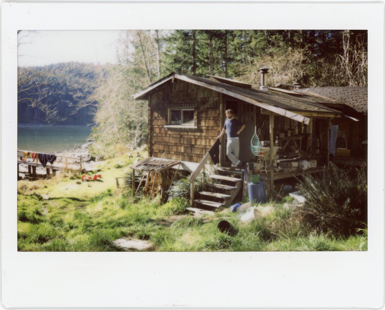 Lakeside cabins on Sonora Island, British Columbia.