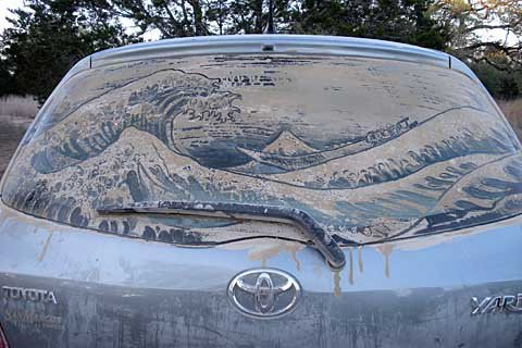 under a wave 20 Dirty Car Artworks by Scott Wade
