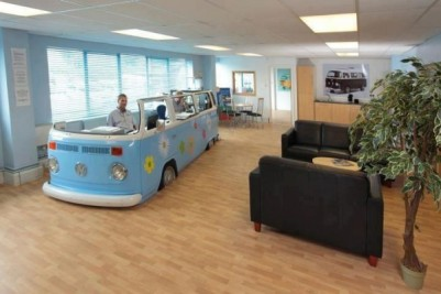 volkswagen van converted office 600x4001 Trash to Treasure: 40 Creative Recycled and Repurposed Artworks