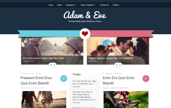 wedding themes 81 Top 15 Premium Wordpress Themes for a Wedding