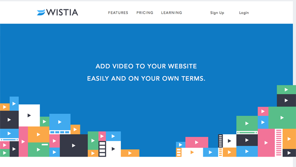 wistia1 35 Nice Examples of Flat Web Design