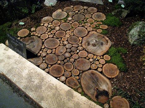 Wood Path Design Idea