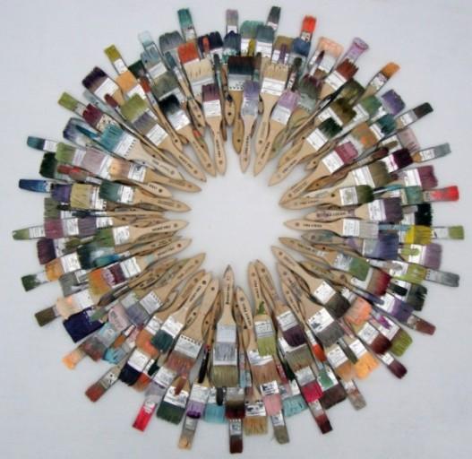 wreath interpretations 2011 cara enteles painters wreath lg 600x5841 Trash to Treasure: 40 Creative Recycled and Repurposed Artworks