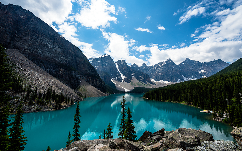 Emerald Moraine Lake By Dave Elysium