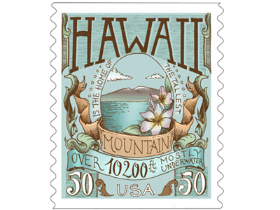 Postage Stamp Design for Hawaii by Biljana Kroll