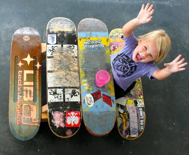 Children's Skateboard Picnic Table