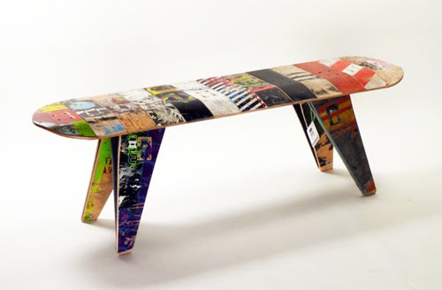 Deckstool - old skateboard decks recycled.
