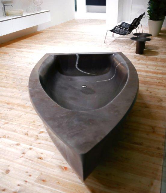 Vascabarca Stone Boat Bath by Antonio Lupi