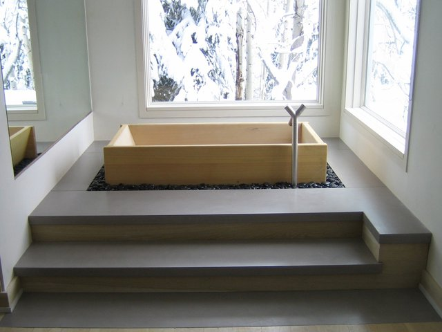 Hinoki Rectangular Ofuro Bath