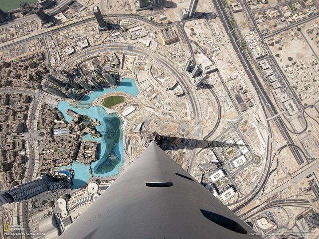 Stunning View from the Top of Burj Khalifa, Dubai