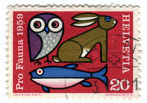 Switzerland Postage Stamp: Pro Fauna