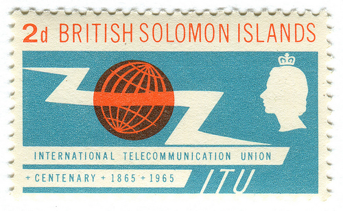 British Solomon Islands postage stamp: ITU Centenary
