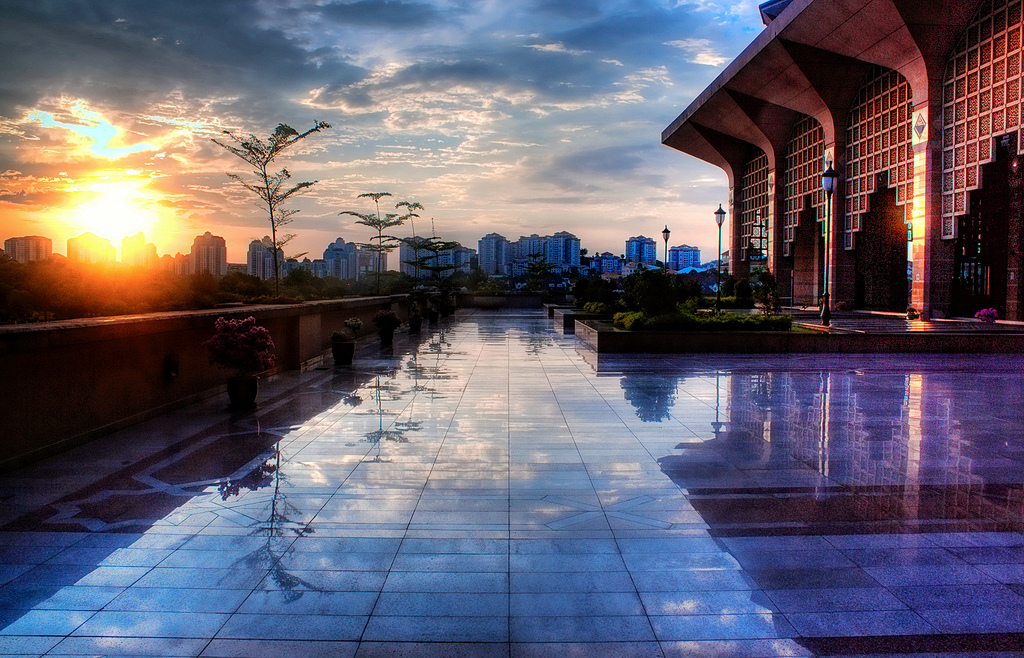 Sunset view from Masjid Putrajaya by Muhammad Iskandar