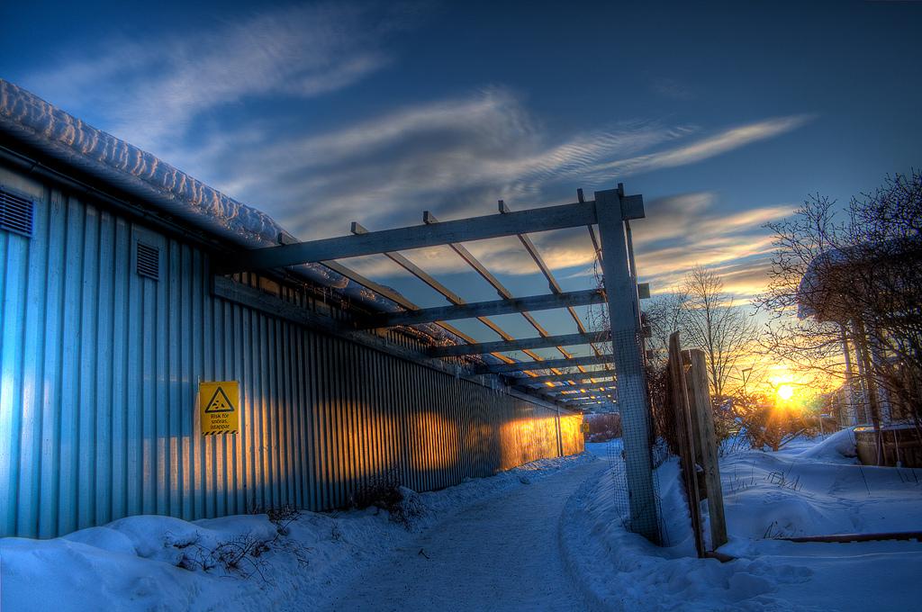 Thoroughfare at Sunset by Henrik Sundholm