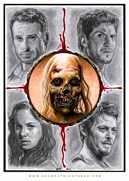 444d8f631b198de86e847da6ca844cc8 d4wymua1 40 Expressive Walking Dead Fan Artworks
