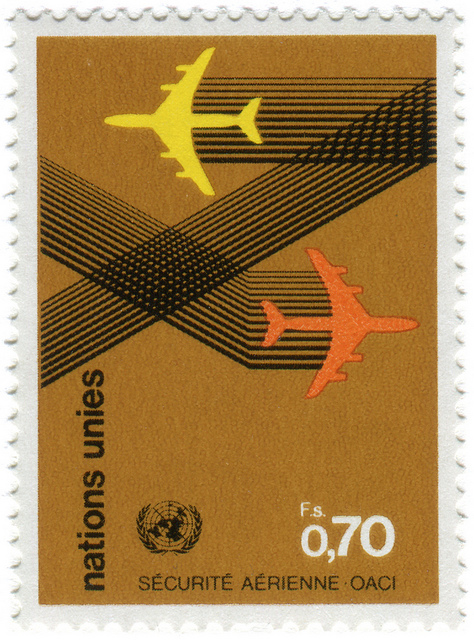 United Nations postage stamp: air security