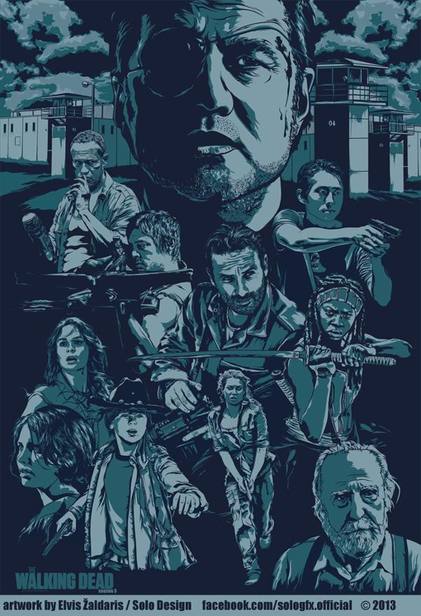 The Walking Dead by Elvis Zaldaris