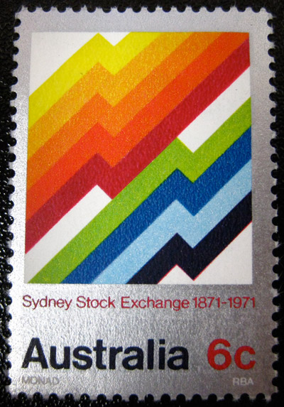 71 australia stockexchange1 50 Beautiful Postage Stamp Designs