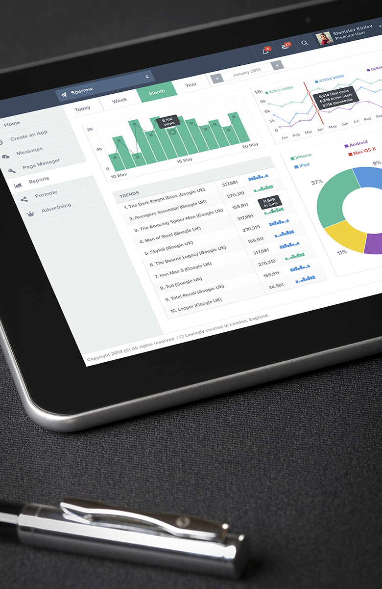 Analytics page by Stanislav Kirilov