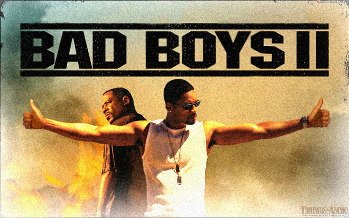 bad boys thumb Movie Scene Guns replaced with a 'Thumbs Up'