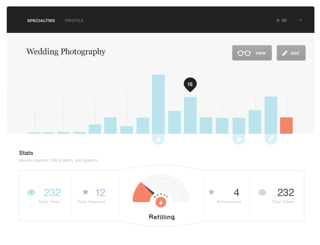 big pixels1 35 Graphically Detailed Dashboard Designs