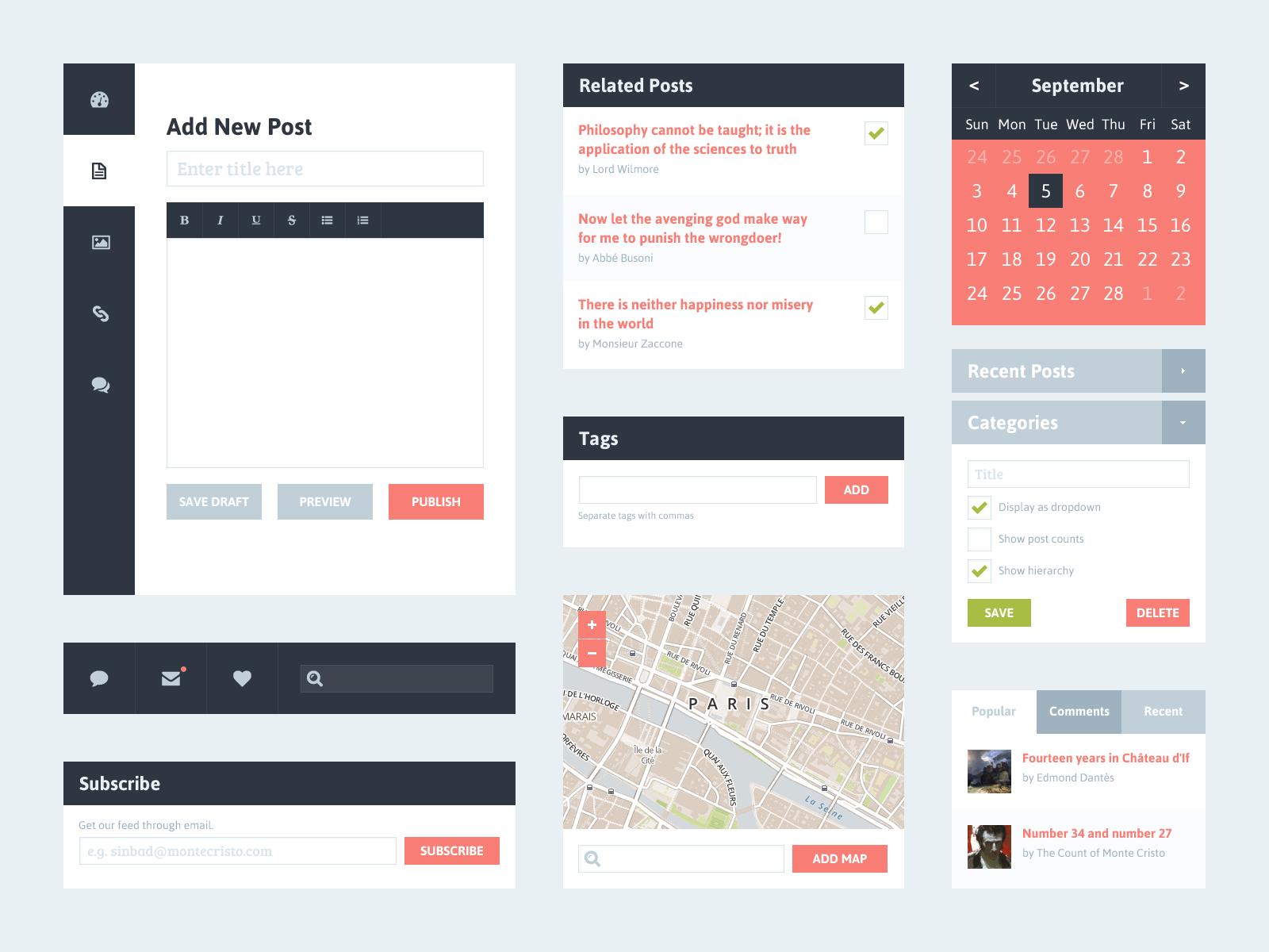 Flat UI Kit 2 (Blog) by Riki Tanone