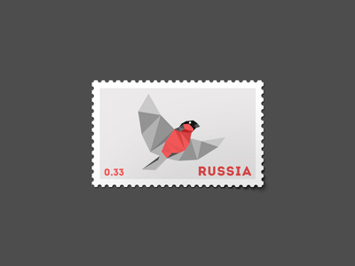 Bullfinch Stamp by David Matua
