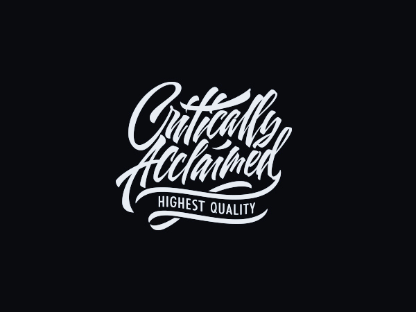 Expressive lettering and calligraphy by sergey shapiro Calligraphy logo