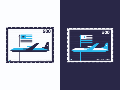 d us air11 50 Beautiful Postage Stamp Designs