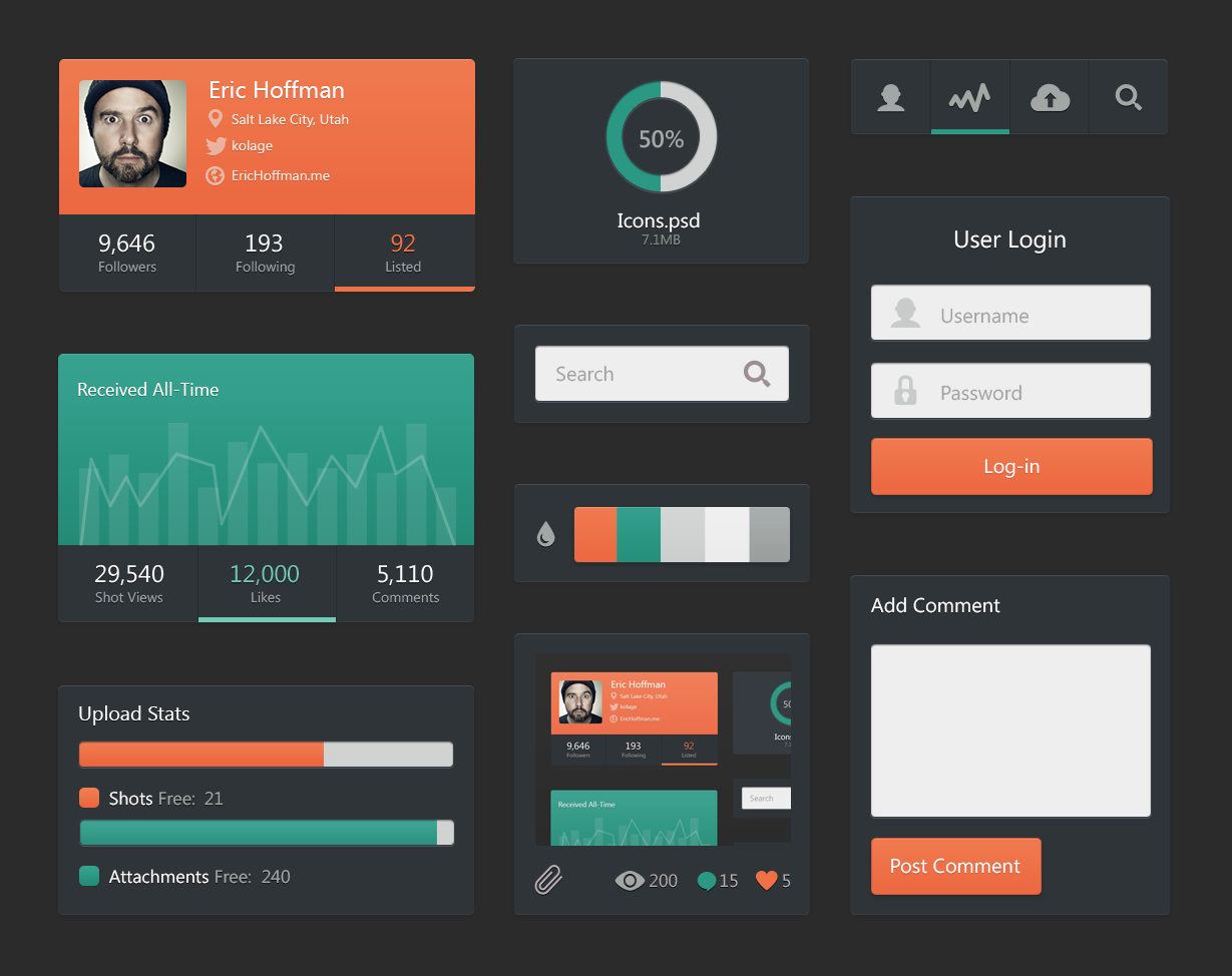 50 Inspiring Examples of Flat User Interfaces | Inspirationfeed - Part 2